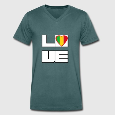 Love Land Roots Mali - Men's Organic V-Neck T-Shirt by Stanley & Stella