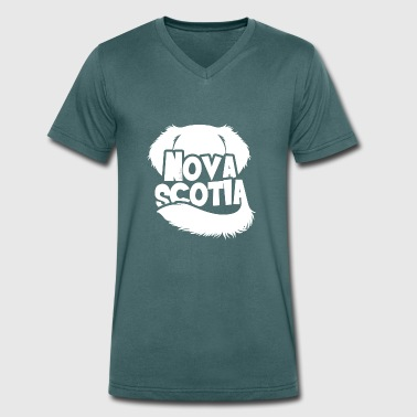 Nova Scotia Silhouette - Men's Organic V-Neck T-Shirt by Stanley & Stella