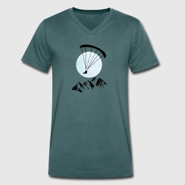 Paraglider ice-sun - Men's Organic V-Neck T-Shirt by Stanley & Stella