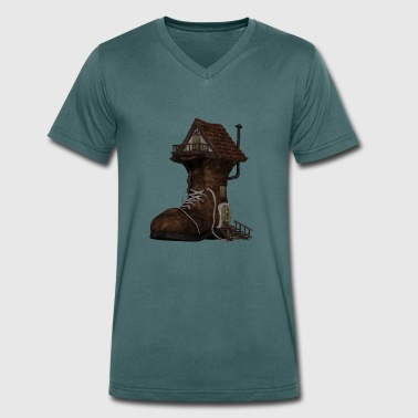 Boot House - Men's Organic V-Neck T-Shirt by Stanley & Stella