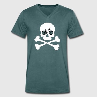 Bike ore Die - Skull - Men's Organic V-Neck T-Shirt by Stanley & Stella