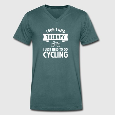 Therapy - Cycling - Men's Organic V-Neck T-Shirt by Stanley & Stella
