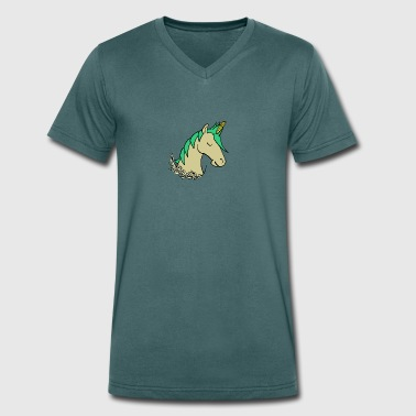 Uni-Corn - Men's Organic V-Neck T-Shirt by Stanley & Stella