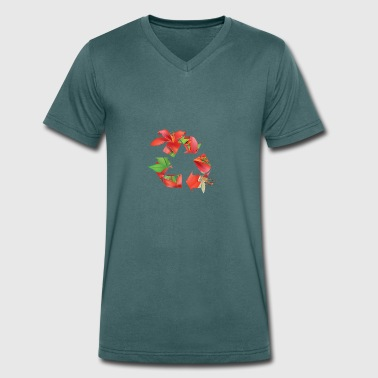 Recycle Nature - Men's Organic V-Neck T-Shirt by Stanley & Stella