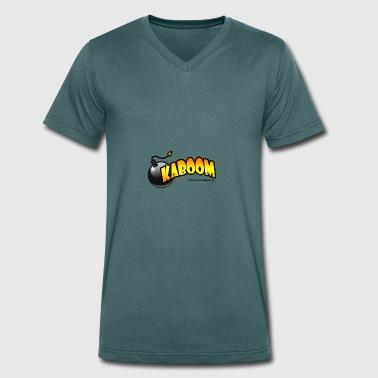 Kaboom - Men's Organic V-Neck T-Shirt by Stanley & Stella