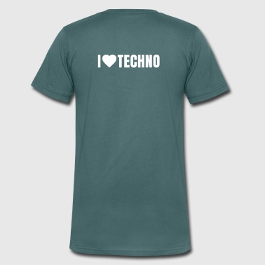 i love techno - Men's Organic V-Neck T-Shirt by Stanley & Stella