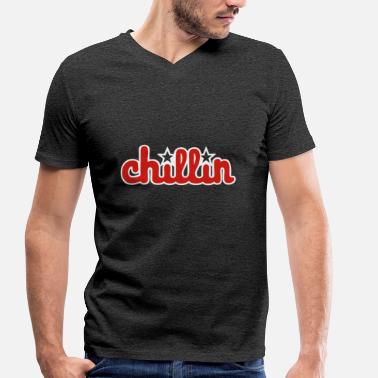 Birthday Graphics chillin graphic - Men's Organic V-Neck T-Shirt by Stanley & Stella