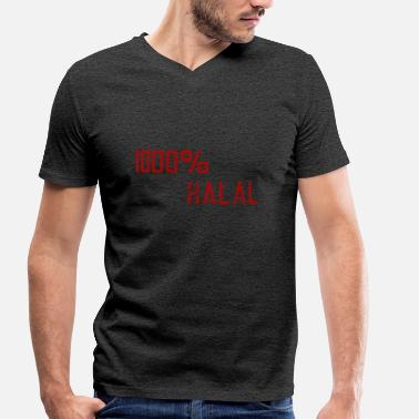 Halal Halal - Men's Organic V-Neck T-Shirt by Stanley & Stella