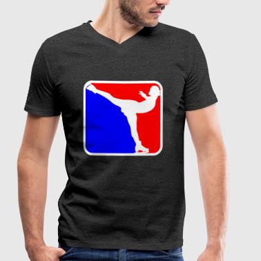 Skate Logo Ice skating logo - Men's Organic V-Neck T-Shirt by Stanley & Stella