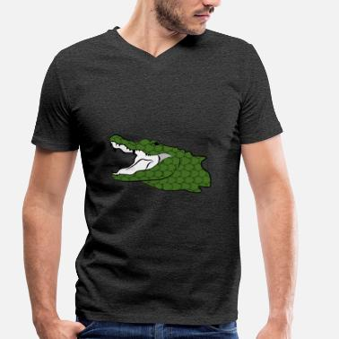 Nile Crocodile Crocodile Nile Crocodile Alligator Reptile Gift - Men's Organic V-Neck T-Shirt by Stanley & Stella