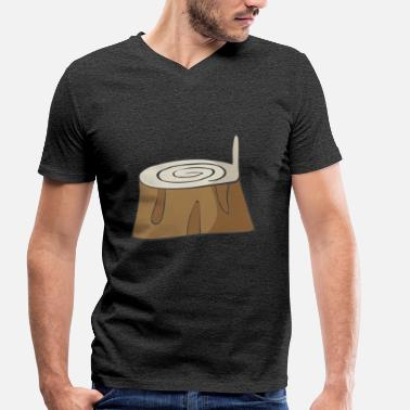 Trunk Tree trunk - Men's Organic V-Neck T-Shirt by Stanley & Stella