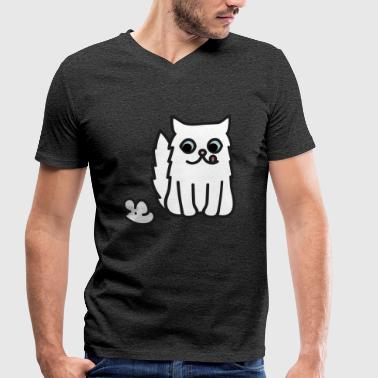 CAT and MOUSE - Men's Organic V-Neck T-Shirt by Stanley & Stella