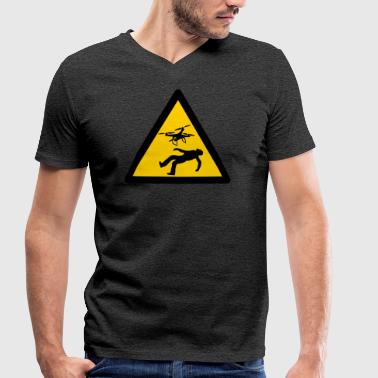 Warn Warning Warning Warning Warning Signs - Men's Organic V-Neck T-Shirt by Stanley & Stella