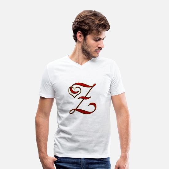 Love T-Shirts - Z love - Men's Organic V-Neck T-Shirt white