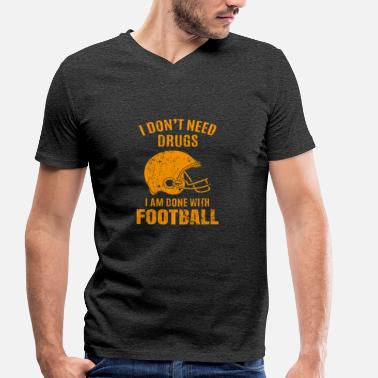 Football Play Football Football Play Gift - Men's Organic V-Neck T-Shirt by Stanley & Stella