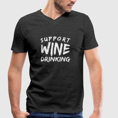 Wine drinkers drink wine - Men's Organic V-Neck T-Shirt by Stanley & Stella