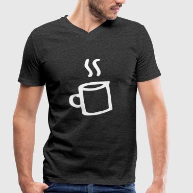 Coffee little mugs coffee mug mocha relaxation - Men's Organic V-Neck T-Shirt by Stanley & Stella