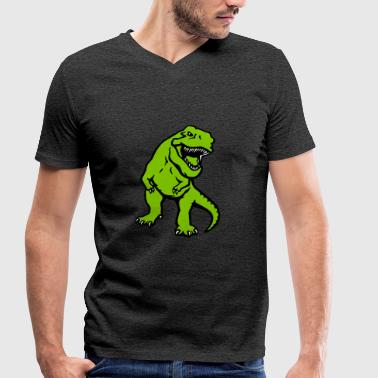 Opaque T-rex - Men's Organic V-Neck T-Shirt by Stanley & Stella
