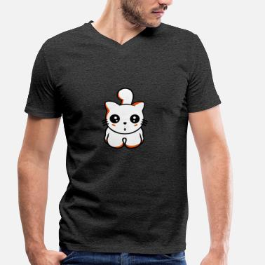 Kawaii kitten - Men's Organic V-Neck T-Shirt by Stanley & Stella