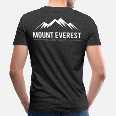 Mount Mount Everest Beyond Limit - Økologisk T-skjorte med V-hals for menn fra Stanley & Stella
