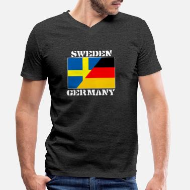 Germany Sweden Germany, Germany Sweden, flag shirt - Men's Organic V-Neck T-Shirt