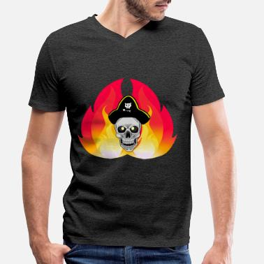 Buccaneers Fantasy pirate skull buccaneer - Men's Organic V-Neck T-Shirt