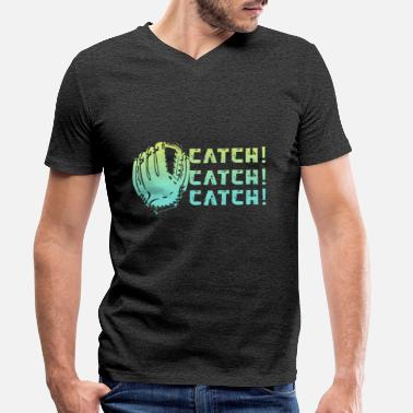 Catcher Catch Catch Catch Baseball Gift - T-skjorte med V-hals for menn