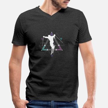 Skier skier - Men's Organic V-Neck T-Shirt