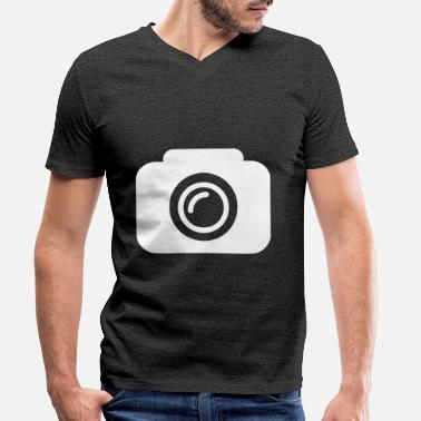 Camera Icon Camera icon - Men's Organic V-Neck T-Shirt