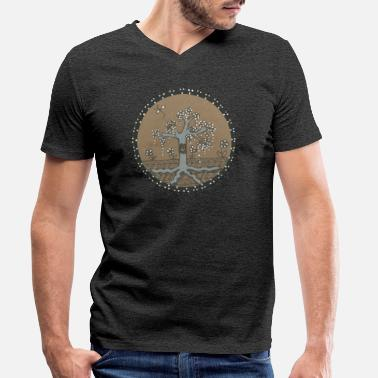 Zen The Zen tree - Men's Organic V-Neck T-Shirt