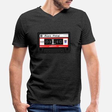 Tape Black Metal cassette / tape - Mannen V-hals bio T-shirt