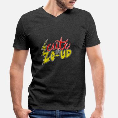 Loud Cute But Loud - Men's Organic V-Neck T-Shirt
