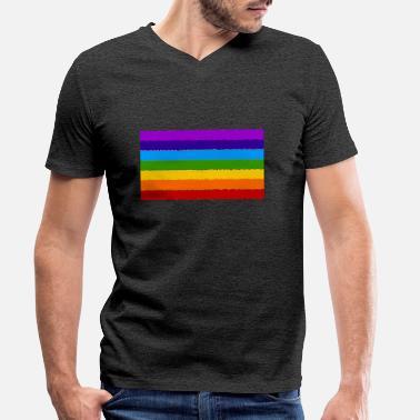 Adultes Hommes teints Drapeau Gay Pride T-shirt Arc En Ciel Lesbienne LGBT Festival Top Shirt