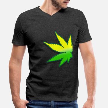 Weed Leaf weed leaf - Men's Organic V-Neck T-Shirt by Stanley & Stella