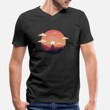 Sunset Sunset Comic - T-shirt bio col V Homme
