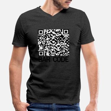 Bar Code Bar code - Men's Organic V-Neck T-Shirt