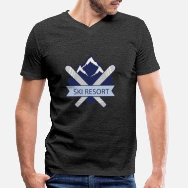 Ski Resort Ski Resort - Men's Organic V-Neck T-Shirt