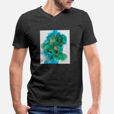 Green And Gold Green and Gold Splash - Men's Organic V-Neck T-Shirt
