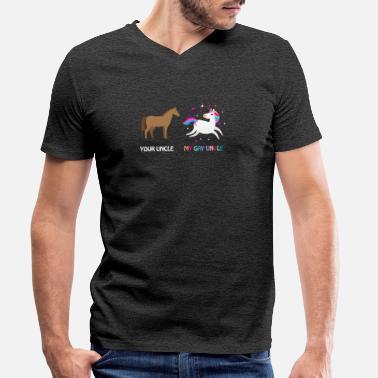 43f4de1b Gay Uncle Gay Uncle Gift - Men's Organic V-Neck T. Men's Organic V-Neck  T-Shirt