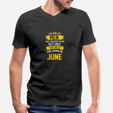 June Birthday June June birthday - Men's Organic V-Neck T-Shirt