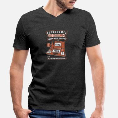 Video Video Games - Men's Organic V-Neck T-Shirt