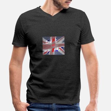 No Deal Deal or No Deal with flag - Men's Organic V-Neck T-Shirt