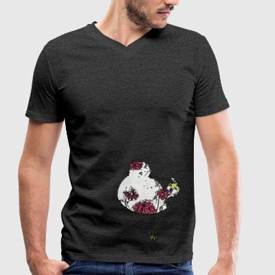 Colorful Woodstock Bird - Men's Organic V-Neck T-Shirt by Stanley & Stella