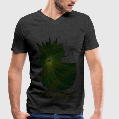 Bad Duck storm - Men's Organic V-Neck T-Shirt by Stanley & Stella