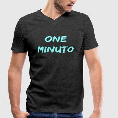 ONE MINUTE - Men's Organic V-Neck T-Shirt by Stanley & Stella