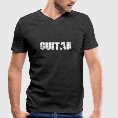Guitar - Guitar - Men's Organic V-Neck T-Shirt by Stanley & Stella
