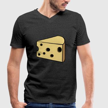 cheese - Men's Organic V-Neck T-Shirt by Stanley & Stella