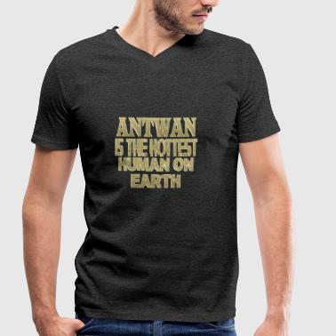 Antwan - Men's Organic V-Neck T-Shirt by Stanley & Stella