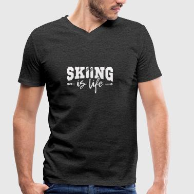 Skiing my life - Men's Organic V-Neck T-Shirt by Stanley & Stella