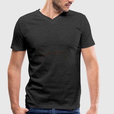 Charles Darwin Signature - Men's Organic V-Neck T-Shirt by Stanley & Stella